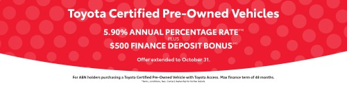 Banner Toyota Certified Vehicles